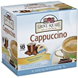 Grove Square Cappuccino, French Vanilla, 18 Single Serve Cups (Pack of 3)