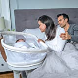 HALO Bedside Bassinet, Bassinest Swivel Sleeper, Removable Bed, Soothing Center with Nightlight, Vibration and Sound…