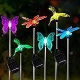 Luz Solar Exterior Jardin,OxyLED 6pcs Luces Solares para Exterior Jardin con cambio de color,IP65 Impermeables…