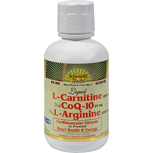DYNAMIC HEALTH Laboratories INC L-Carnetine w CoQ-10 Plus L-Arginine 16 OZ