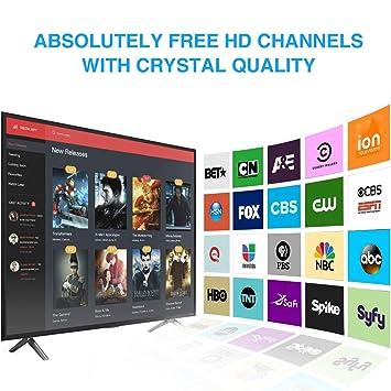 Antena de TV, Antena Interior HDTV con Amplificador Portatil, Rango de 96-200 KM, Soporte 4K 1080p y Todos los televisores de Interior TV de Antena: ...