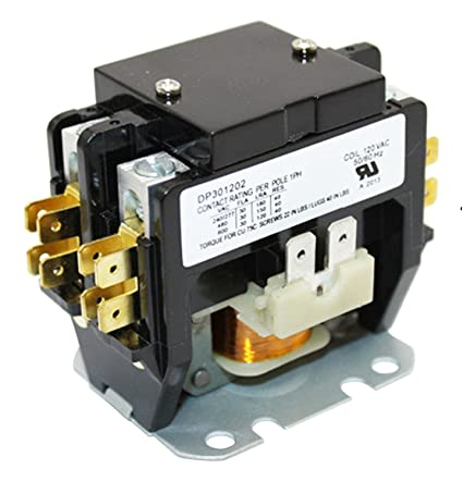 packard c230b 2 pole 30 amp contactor 120 voltage coil amazon com rh amazon com