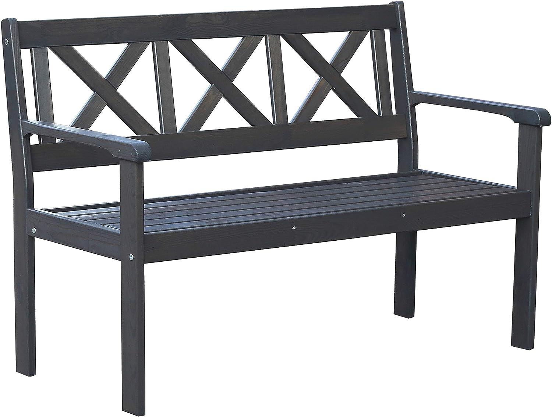 Chicreat Banco de aluminio para jardín, 135 x 40 x 45 cm