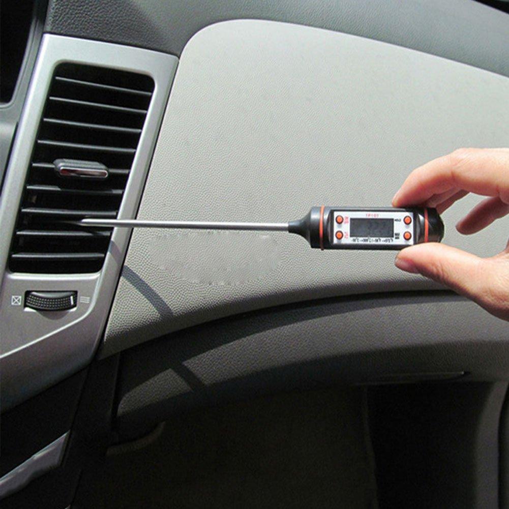 M/étal v/éhicule pour Sedeta Auto v/éhicules Climatisation Outlet Thermom/ètre num/érique LCD Jauge /Équipement outil ABS