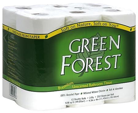 Green Forest Premium 100% reciclado baño pañuelo, 352 hojas, 12 ...