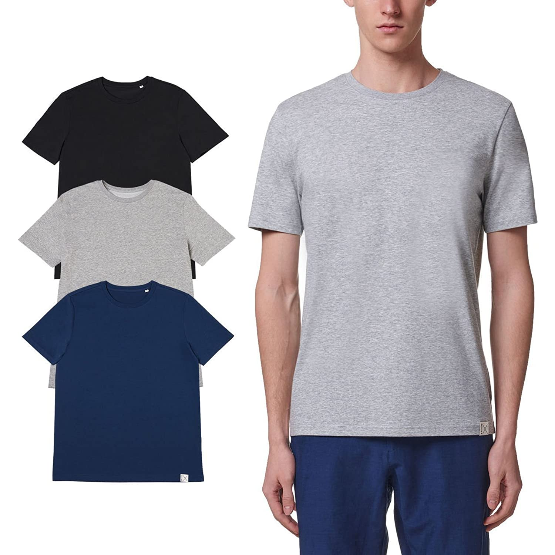 REGNA X Basic men's crew neck short sleeve cotton T-Shirt (Various Color Pack)