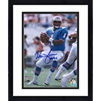 """$97 » Framed Warren Moon Houston Oilers Autographed 8"""" x 10"""" Vertical Pocket Pass Photograph with""""HOF 06"""" Inscription - Fanatics Authentic Certified"""