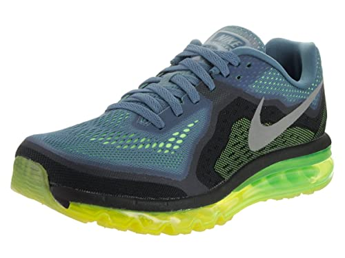 new products 519cc 56990 Nike Mens Air Max 2014 Running Shoes Reflect Blue Reflect Silver Flash  Lime Black 11.5 D(M) US  Buy Online at Low Prices in India - Amazon.in