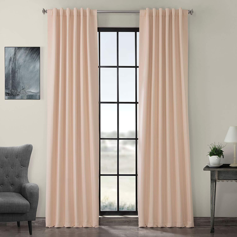 Bellini Peach 50 x 108 HPD HALF PRICE DRAPES BOCH-194906-108 Room Darkening Curtain 50 x 108 Dark Mallard 1 Panel