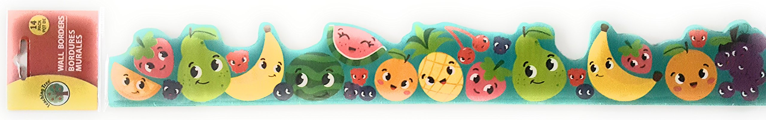 Back to School Teaching Tree Fun Fruit Bulletin Board Set Creative Strips School Office Resources Scholastic Teacher Teacher's Bulletin Trim Wall Border Decal Classroom Decoration