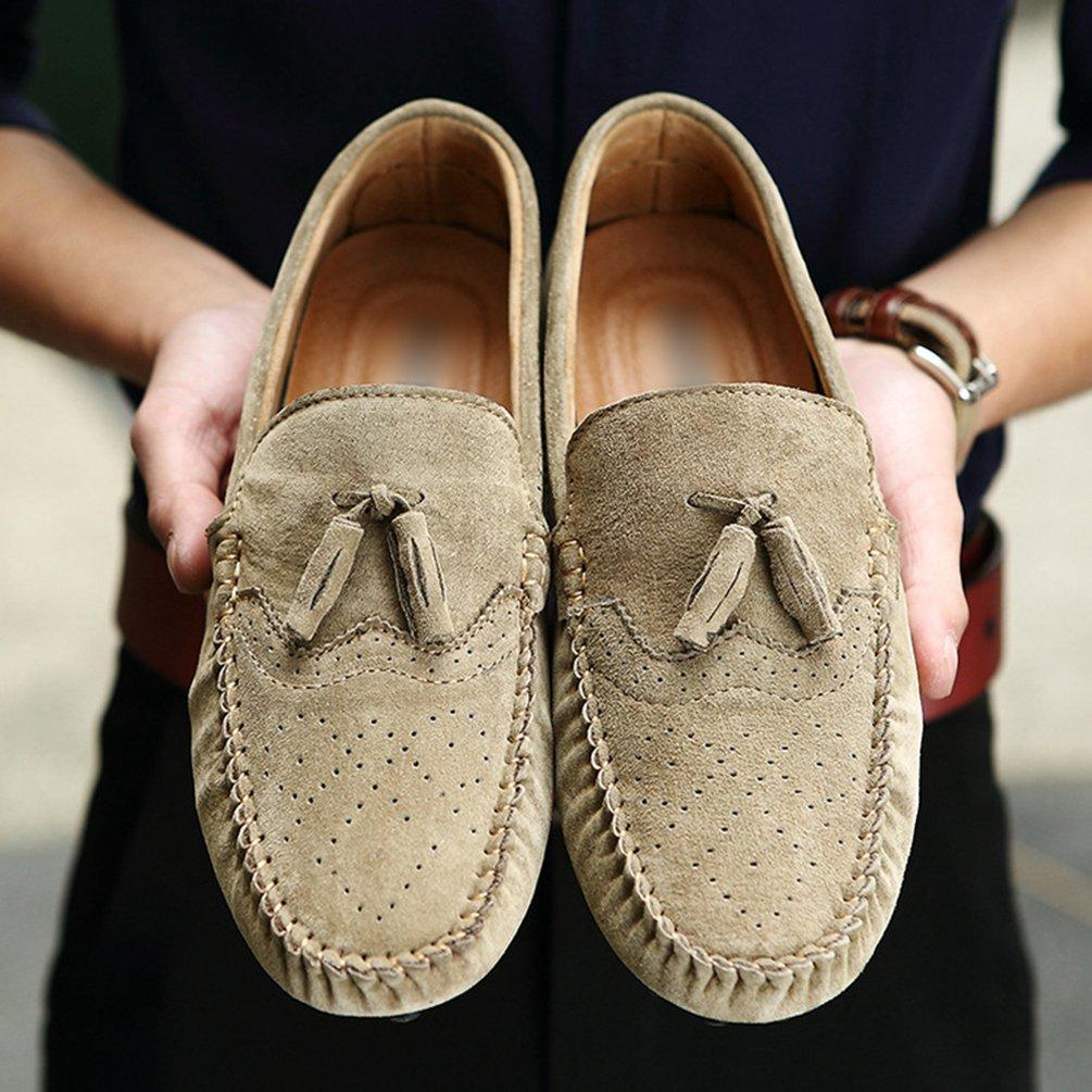 Sentao Casual Moccassins Homme Su/ède Cuir Plats Slip-on Loafers Loisirs Chaussures de Conduite