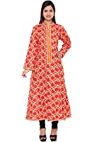DOLLZ Red Color Printed Anarkali Kurta DZ0176 (DESIGNER-DOLLZ ) B682006
