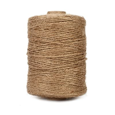 Tenn Well Natural Jute Twine, 500 Feet Long Brown Twine Rope for Crafts, Gift Wrapping, Packing, Gardening, Recycling and Wedding Decor : Office Products