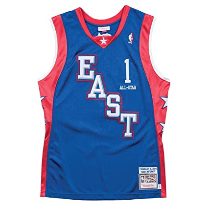 Mitchell   Ness Tracy McGrady All Star East NBA Blue 2004 Retro Authentic  Jersey For Men 0efcf77ee