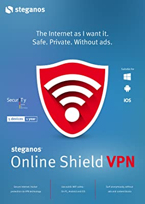 Steganos Online Shield VPN - The internet as I want it. Safe. Private. Ad-Free -Windows 10, 8 or 7 (32 & 64 Bit) [Download]