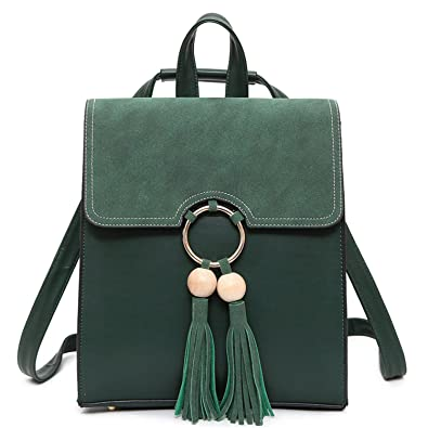 3115c6b3cca3 Amazon.com: Evan Fordd Brand Women Leather Backpack With Tassel ...