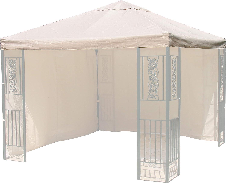 QUICK STAR Ersatzdach Roma Garten Pavillon 3x3m Ersatz Plane Bezug Sand