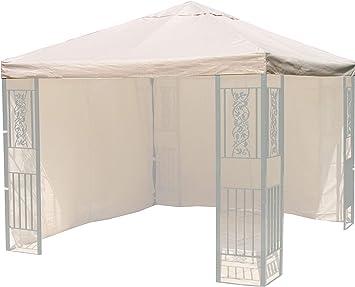 Quick-Star para Techo Roma Jardín de Carpa 3 x 3 m de Repuesto Lona Funda Arena: Amazon.es: Jardín
