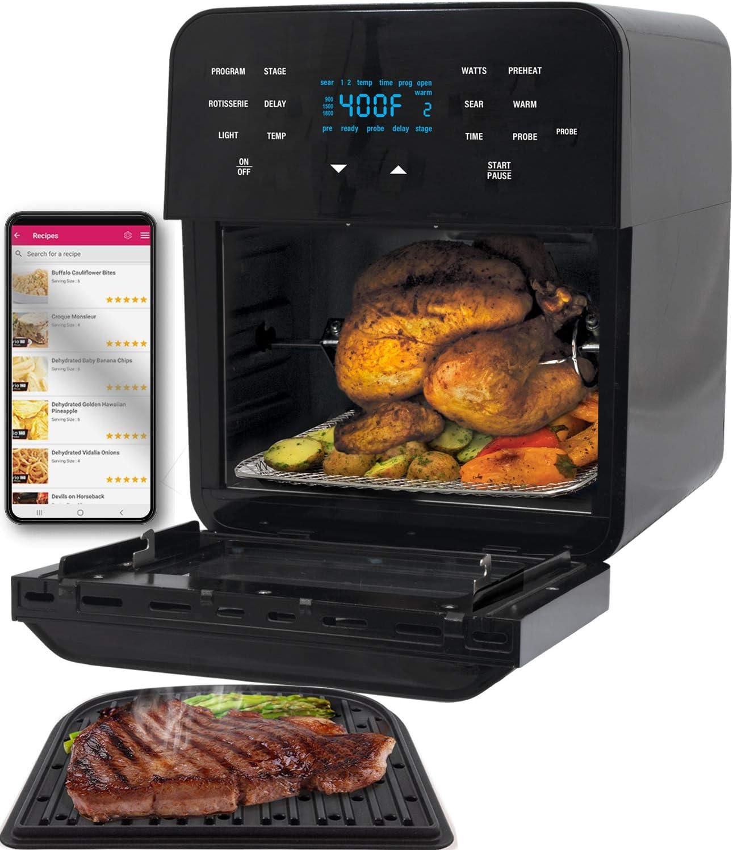 NUWAVE BRIO 14-Quart Powerful Air Fryer Oven - Best air fryer with rotisserie