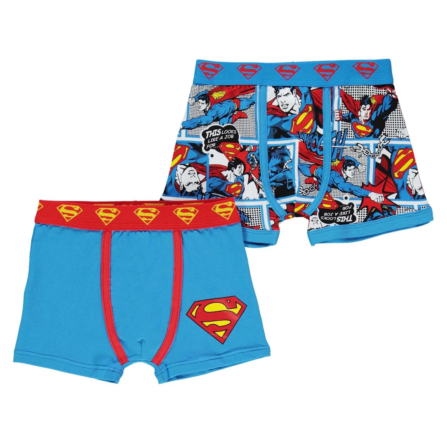 Character Kids Boys 2 Pack Boxers Infant Boxer Underwear Stretch Stretchy Superman 4-5 yrs