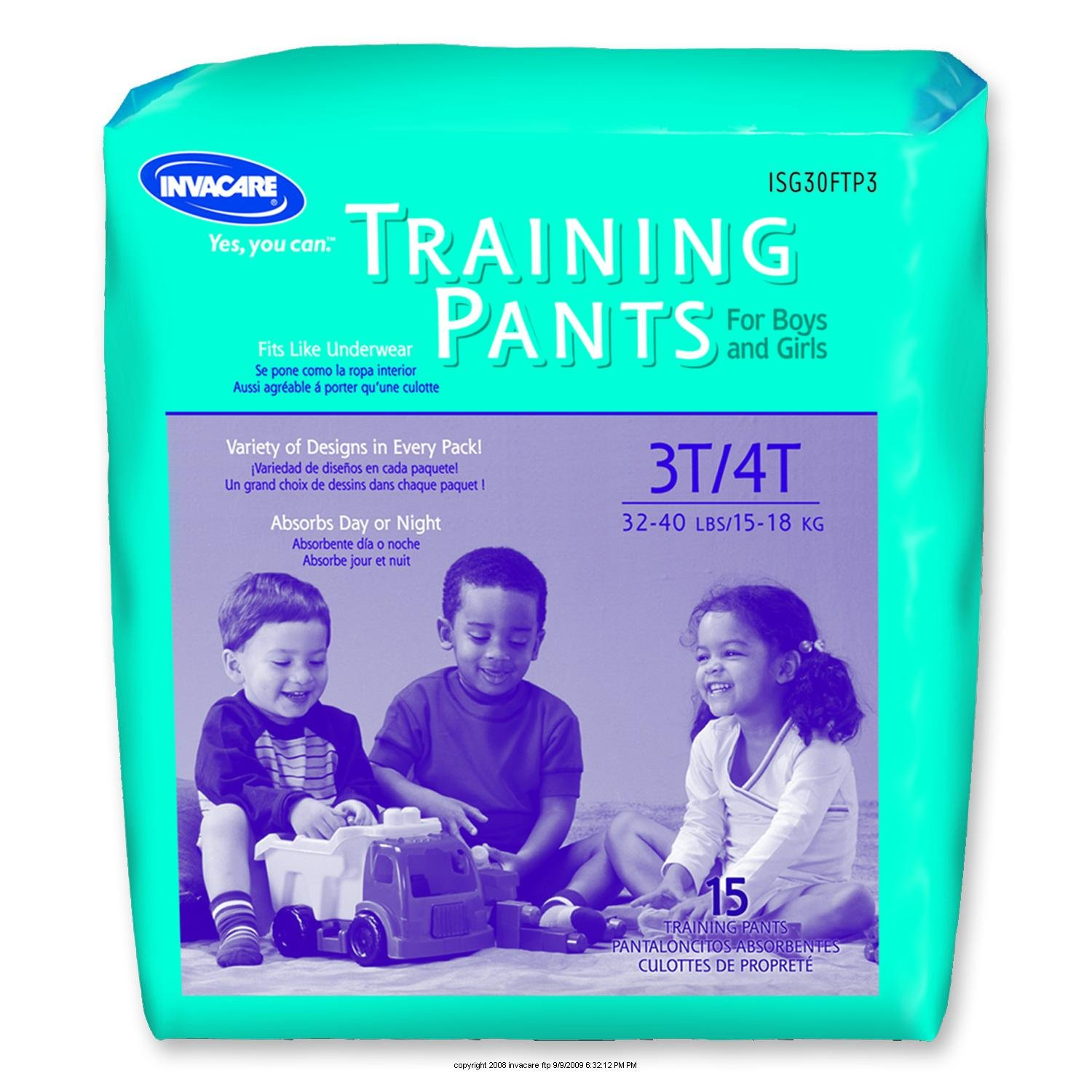 Amazon.com : Invacare Childrens Training Pants, Ib Trnpnt Pullup Unsx Lg, (1 PACK, 15 EACH) : Incontinence Protective Underwear : Beauty