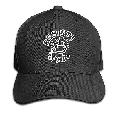 Amazon.com  Keith Haring Resist Men Baseball Hat Trucker Hat Dad Cap ... 09ee7ff8142