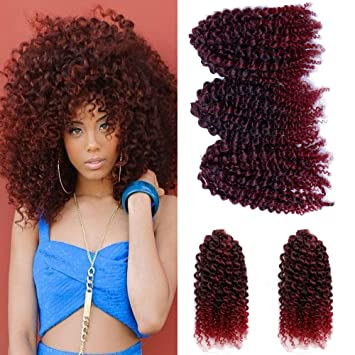 Amazon 3 Pcspack Crochet Curly Hair 8 Inch Synthetic Crochet
