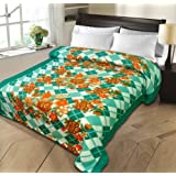 Christy's Collection Super Soft Printed Cotton Blend AC Double Blanket - Multicolor