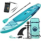 Peak 11' Expedition Inflatable Stand Up Paddle Board with Adj Paddle, Travel Backpack and Coil Leash