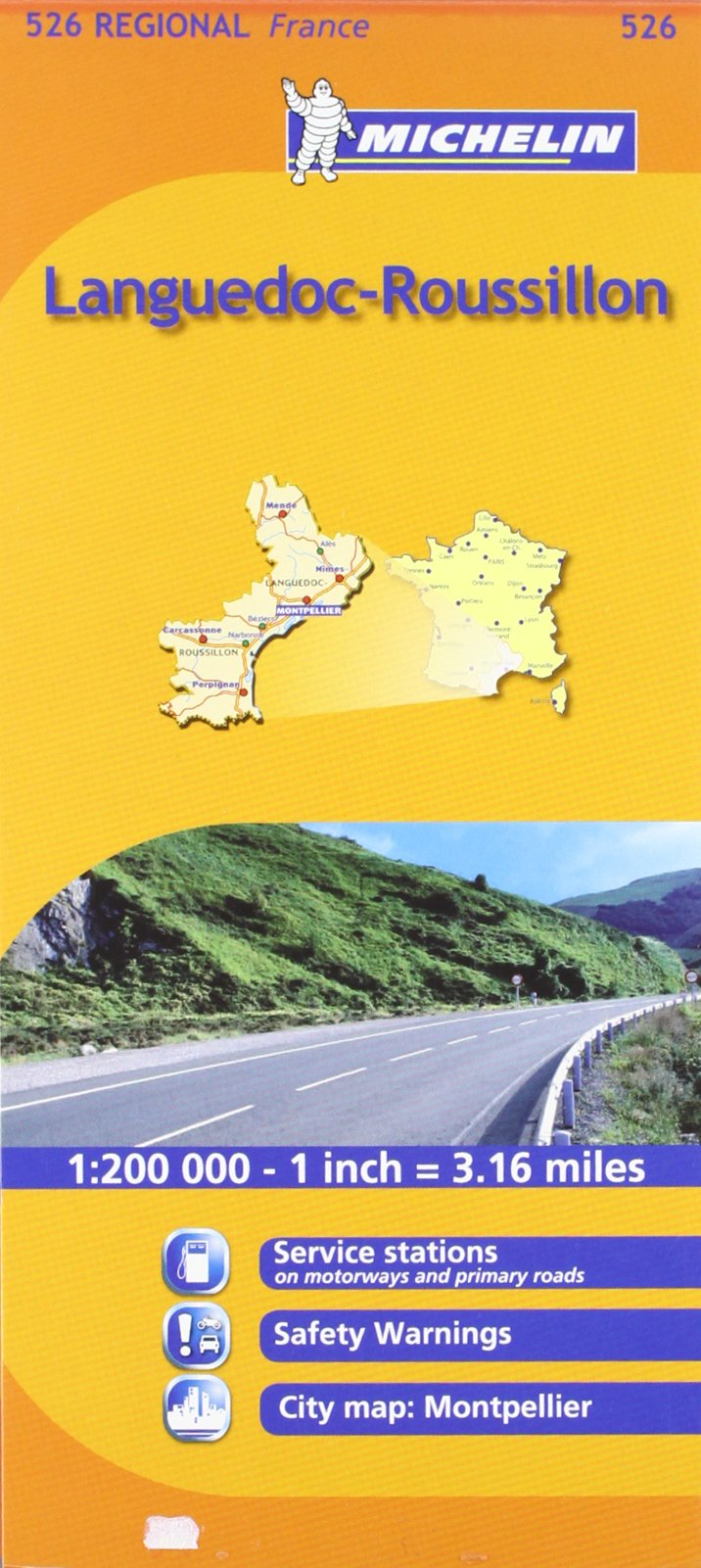 Mapa Regional Languedoc-Roussillon (Michelin Maps)