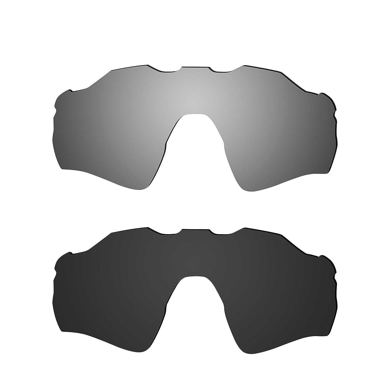 ブランド新しい1.5 MM littlebird4偏光交換レンズOakley Big Tacoサングラス – 複数のオプション B078JF7DSR ダークブラック ダークブラック