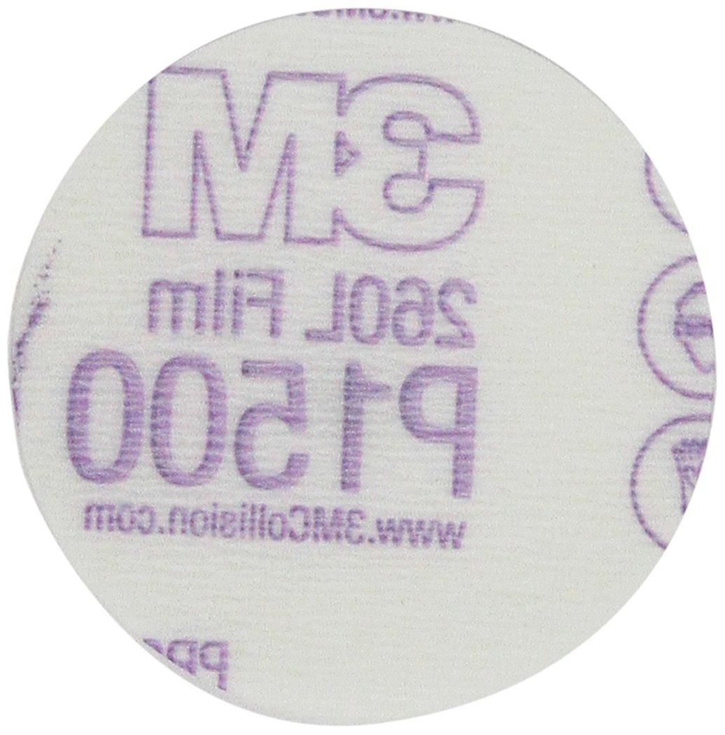 3M 01055 Hookit 5 P600 Grit Dust-Free Finishing Film Disc