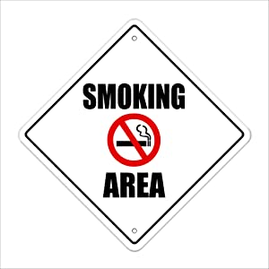 """Smoking Crossing Sign Zone Xing 