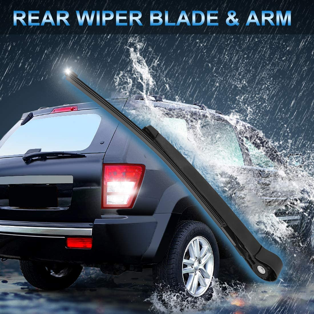 X AUTOHAUX Rear Windshield Wiper Blade Arm Set 300mm Fit for Borgward BX7 2016 2017 2018 2019
