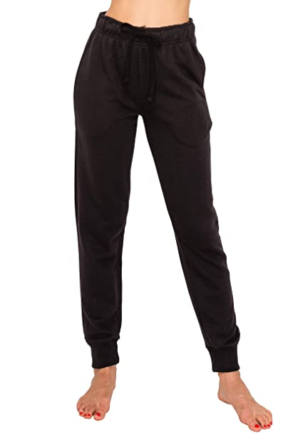 5d26217540342b EttelLut Athletic Exercise PJ Black Joggers for Women Yoga Sweatpants  Activewear Pajama Pants Black S