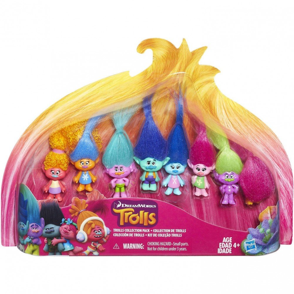Dreamworks Trolls Movie Collection Pack 8 Mini Trolls 1.25 Inches Hasbro SG/_B01M9DX663/_US