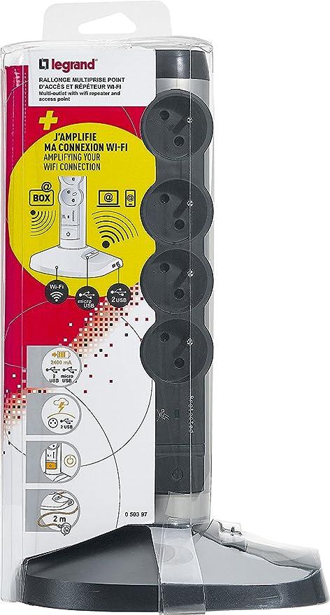 Prise mobile pour box avec parafoudre LEGRAND
