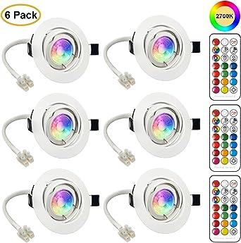 Rgb led maison mur éclairage Couleur Changeante coloré variateur télécommande lampe de jardin