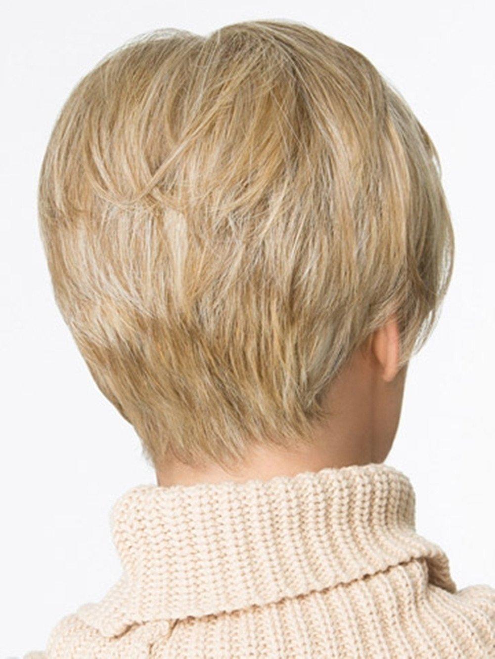 Tonake 0081 - Peluca de pelo corto rubio ligeramente ondulado resistente al calor para las mujeres: Amazon.es: Salud y cuidado personal