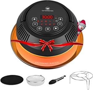 Air Fryer Lid for Instant Pot - CSS CrispyTop/ Pressure Cooker Transformer, Crisp or Broil fits 6 & 8 Qt Pot Basket, Trivet, Silicone Mat, Tongs plus, Instant Access Air Fryer Lid
