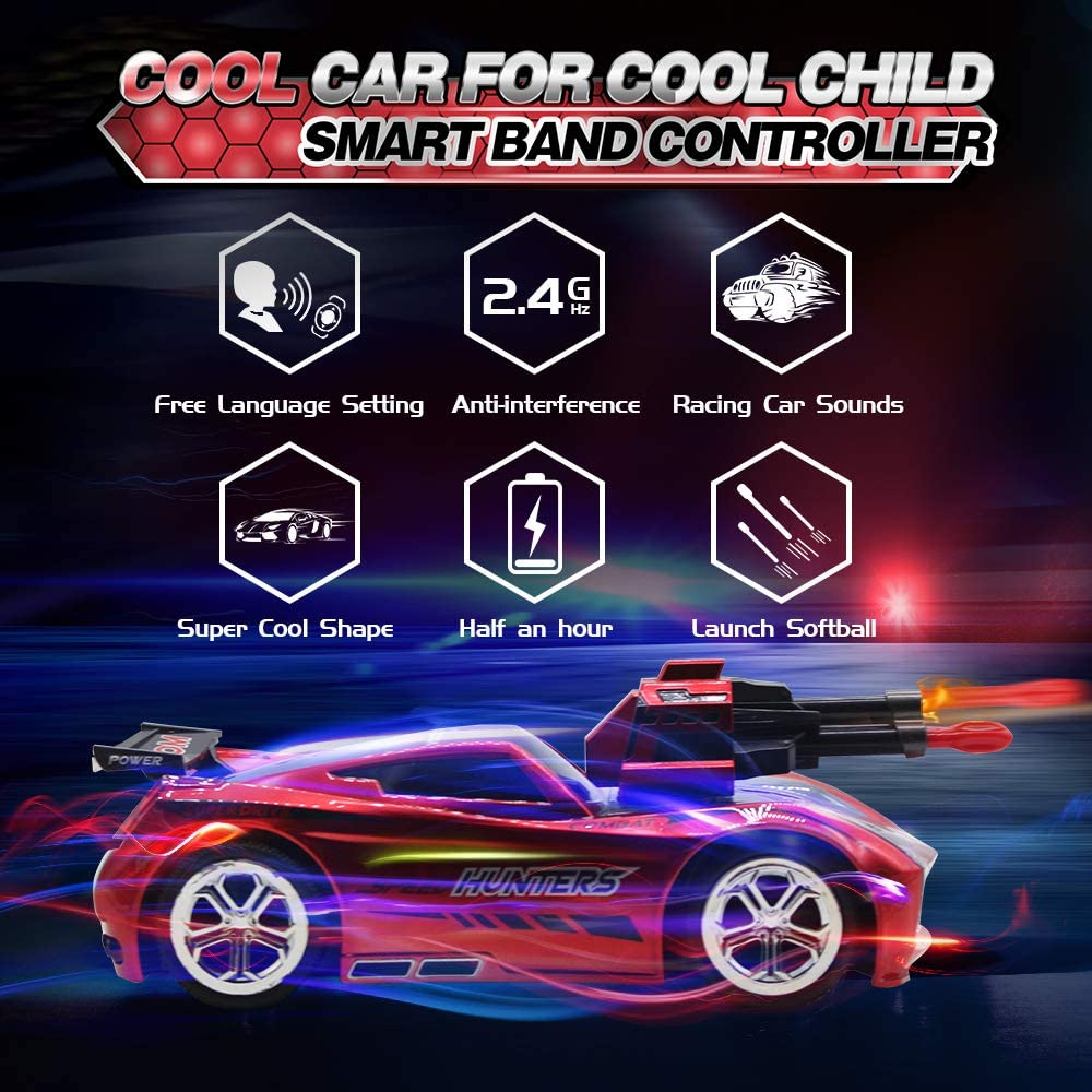 2.4GHz Fast Race Stunt RC Car for Kids Seckton Smart Voice Remote Control Cars Model Vehicle with Cool Sound /& Light Best Birthday Gifts for Boys Girls Age 6 Up Toys for 7-12 Year Old Boy-Red