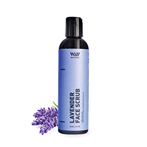 Lavender Face Scrub, Face Exfoliator with Lavender Essential Oil and Jojoba Beads, Exfoliates Skin and Calms Mind, Facial Scrubs for Women and Men, For All Skin Types, 120 mL - Way of Will