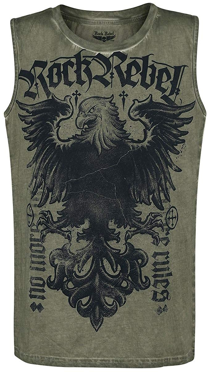 Rock Rebel by EMP Tiger In My Tank Tank-Top Oliv Ningbo Yongnan Knitting Co. Ltd