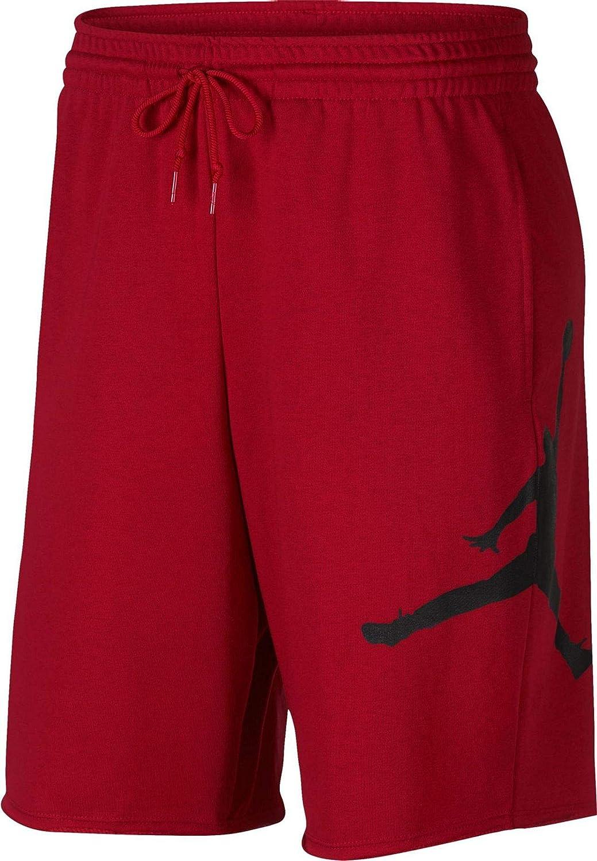 Nike Men's Jumpman Air Short, Gym Red(Black), L
