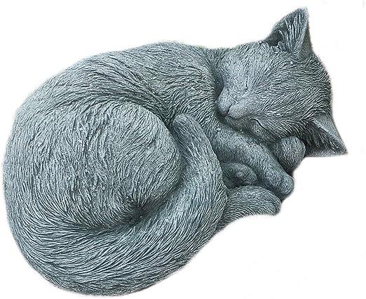 piedra Figura gato poligonal afend Mieze Decoración Jardín ...