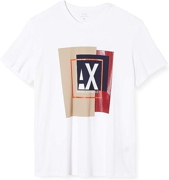 Armani Exchange Geometric Camiseta para Hombre: Amazon.es: Ropa y accesorios