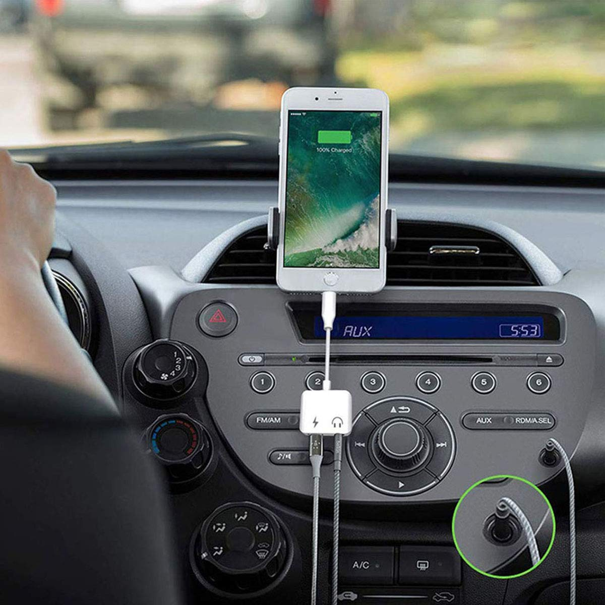 Headphone Jack Adapter Dongle for iPhone Xs//Xs Max//XR//8//11 Pro//X 10 //11//7//7 Plus to 3.5mm Jack Converter Car Charge Accessories Cables /& Audio Connector Earphone Splitter Adaptor Support All Systems