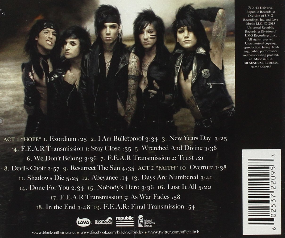 Black veil brides wretched and divine the story of the wild ones black veil brides wretched and divine the story of the wild ones amazon music m4hsunfo