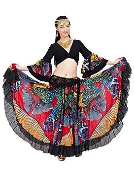Dance Fairy Tribal Gitana 25 Yardas de 720 Grados roja del Vientre ...