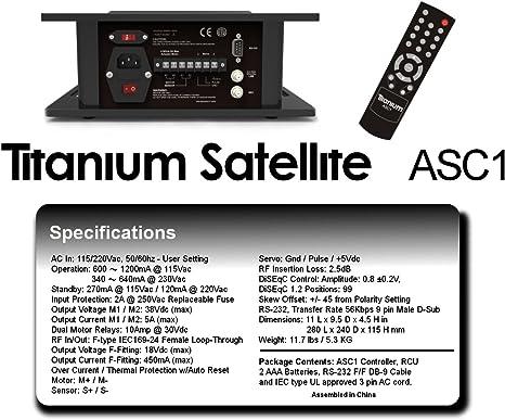 ASC1 DiSEqC 1,2 antena parabólica posicionador fuente Motor actuador Motor con control de desplazamiento